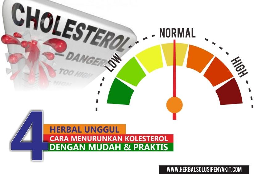 cara menurunkan kolesterol dengan 4 herba unggul