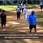 jalan sehat efektif mencegah diabetes