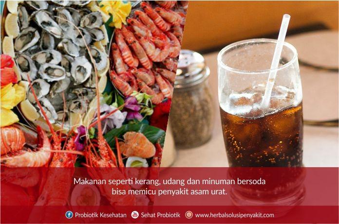 makanan dan minuman memicu asam urat